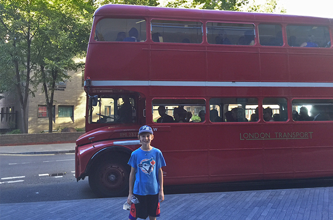 Family travel in London