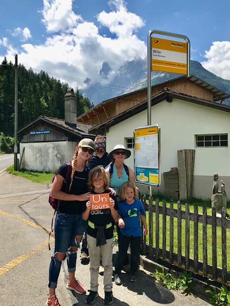Ayers family travel in Switzerland