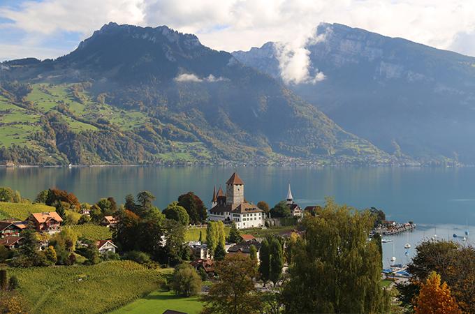 Spiez in the Berner Oberland