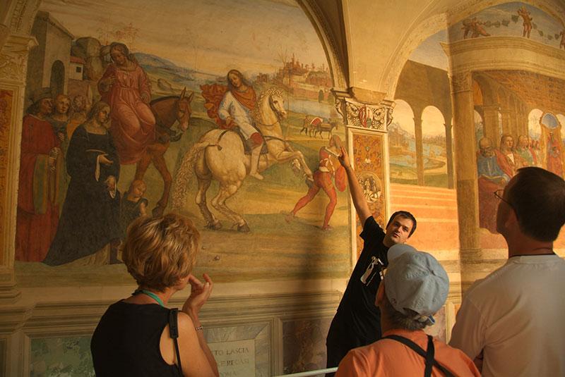 frescos in Tuscany
