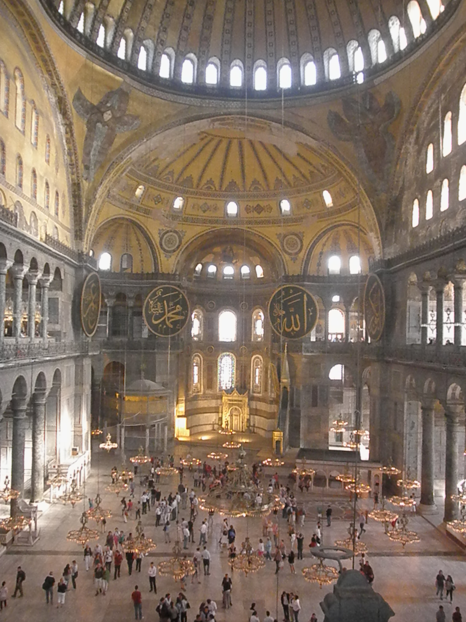Untours staffer Andi Cancelliere takes a moment to appreciate the Hagia Sophia during her research trip to Istanbul