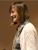 Here's Elizabeth at the podium praising Tosheka Designs