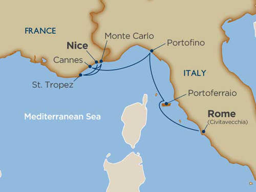 Yachting The Rivieras Rome To Nice Untours Ventures